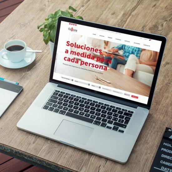 Inmobiliaria Opziona - Diseño Web y Gráfico Publicitario - Éruga