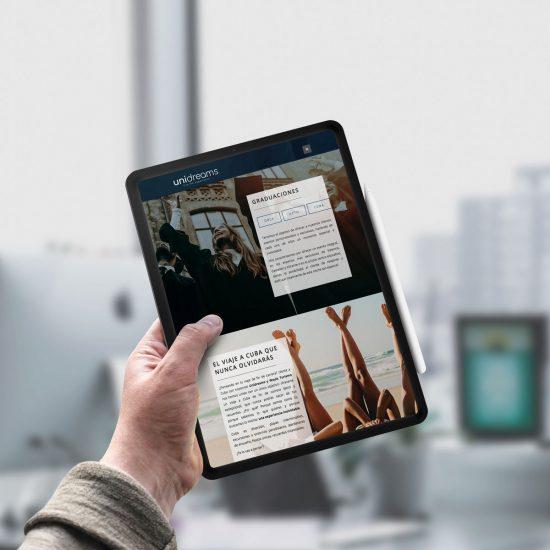 Proyecto Unidreams - Diseño web y programación - Éruga Comunicación