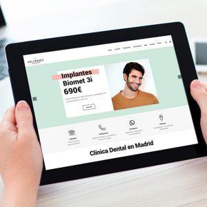 Diseño web y rediseño marca de Clínica Dental Velázquez - Éruga Comunicación